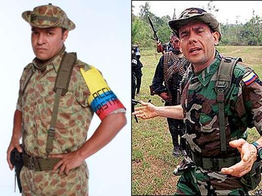 Julián Román interpreta a Carlos Castaño, un paramilitar colombiano que lideró grupos armados ilegales de extrema derecha ligados al tráfico de drogas en Colombia.