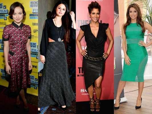 Maxifaldas, vestidos en verde esmeralda y faldas de piel fueron algunas de las prendas que la famosas eligieron para lucir esta semana. Conoce quiénes fueron las mejor vestidas.