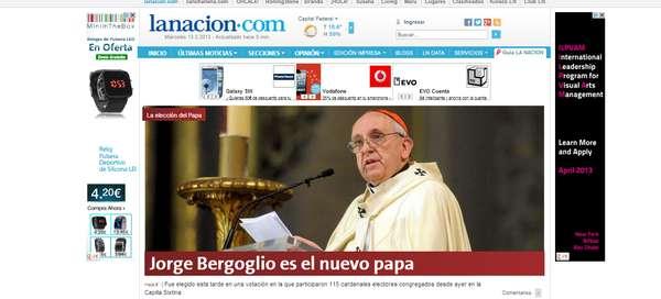 Los principales diarios argentinos recogen el nombramiento de Francisco I
