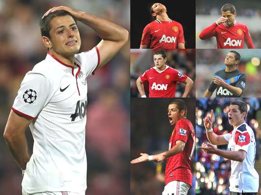 'Chicharito' Hernández is not only noticeable for his goals but also for his behavior and gestures inside the pitch.