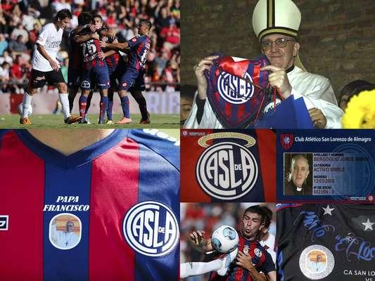 En días anteriores ya se había presentado la nueva playera de San Lorenzo con la imagen del Papa en el pecho, situación que le trajo suerte al cuadro azulgrana al ganar 1-0 de visita a Colón.