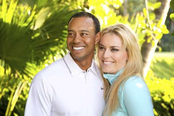 O golfista americano Tiger Woods assumiu em seu site oficial que está namorando com Lindsey Vonn, musa do esqui