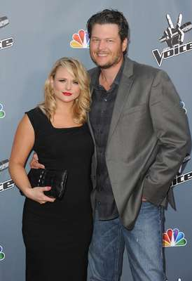 Miranda Lambert and Blake Shelton arrive at the screening of NBC's 'The Voice' Season 4 at TCL Chinese Theatre on March 20, 2013 in Hollywood, California.