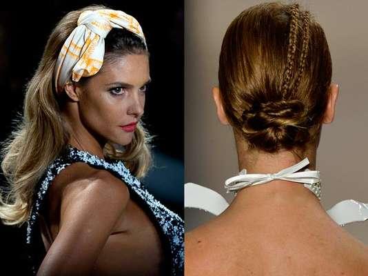 Presos, soltos, com laços. Além das roupas e looks, o SPFW também lança tendências nos penteados. Confira