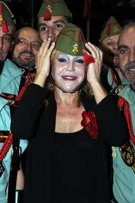 Sin duda, la baronesa Thyssen ha sido la gran protagonista de los Premios Cofrades 2013 celebrados el pasado jueves en el Palacio de Congresos de Marbella (Málaga). Se trata de la séptima edición de esta gala, donde Tita fue premiada con la 'Mantilla de Honor'.