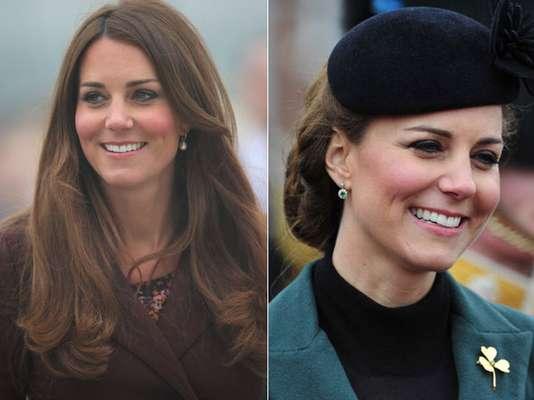 Kate Middleton -A ponta não é tão definida, na realidade é até um pouco gordinha, mas está em boa relação com o dorso, e como ela tem um rosto mais largo, talvez uma ponta mais definida poderia ficar desproporcional no seu rosto