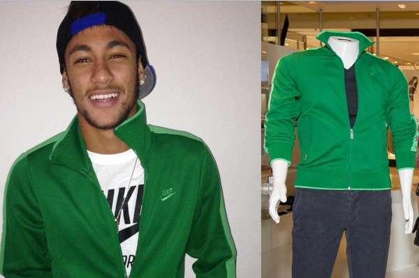 Neymar publicó esta imagen en su Instagram de la ropa que donó para una organización de caridad en Sao Paulo.
