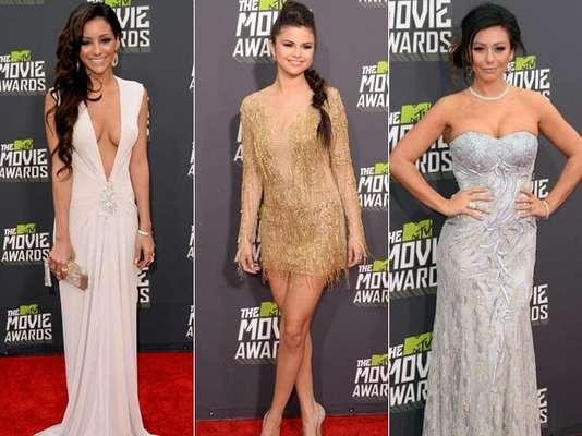 La alfombra roja de los MTV Movie Awards 2013 estuvo repleta de mujeres bellas. Algunas de ellas nos dejaron atónitos por sus escotes de que dejaban poco a la imaginación.