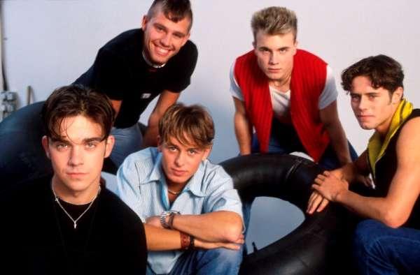 'Take That' fue un grupo pop británico, que se hizo con los primeros puestos de las listas de Reino Unido en 1990, compuesto por Gary Barlow, Mark Owen, Jason Orange, Howard Donald y Robbie Williams.