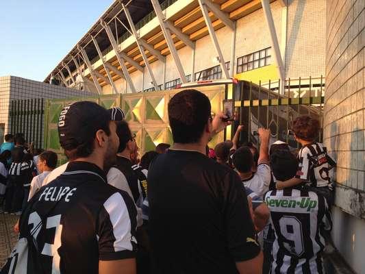 A cidade de Volta Redonda aparentava total tranquilidade antes de Botafogo x Resende, que definirá um dos finalistas do segundo turno do Campeonato Carioca, neste sábado