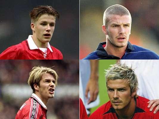 Ao longo de 20 anos de carreira, David Beckham chamou atenção com bons cruzamentos e talento na criação de jogadas mas também, com suas inúmeras mudanças de visual. O astro inglês, um dos primeiros atletas considerados metrossexuais, já foi cabeludo e careca, já usou moicano, bigode, barba e vários adereços. Confira alguns dos visuais de Beckham: