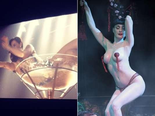 Lívia já foi stripper que se inspirava na dançarina burlesca Dita Von Teese. Nesta quinta (16), Claudia Raia postou no Instagram fotos do último capítulo da novela 'Salve Jorge'