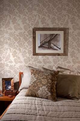 O ambiente traz papel de parede em tom pastel, da coleção Harmonia da Bobinex. Preço: R$ 170 (cada rolo). Informações: (11) 4704-3500