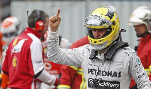 Com volta no fim, Nico Rosberg conquistou neste sábado a pole position para o Grande Prêmio de Mônaco