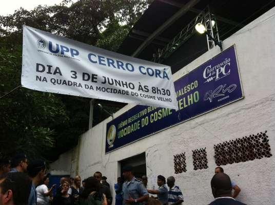 Governo do Rio inaugurou nesta segunda-feira a Unidade de Policia Pacificadora (UPP) do Cerro Corá, na zona sul, aos pés do Cristo Redentor