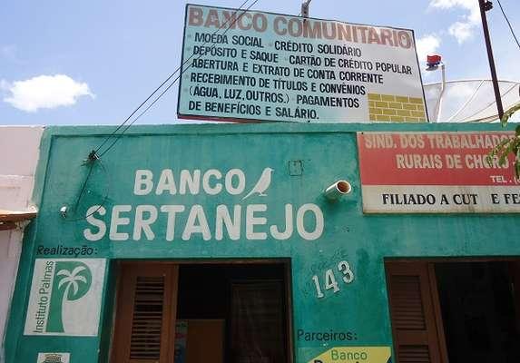 Banco Sertanejo, do município de Choró, Ceará, é um dos bancos comunitários que recebem consultoria do Palmas
