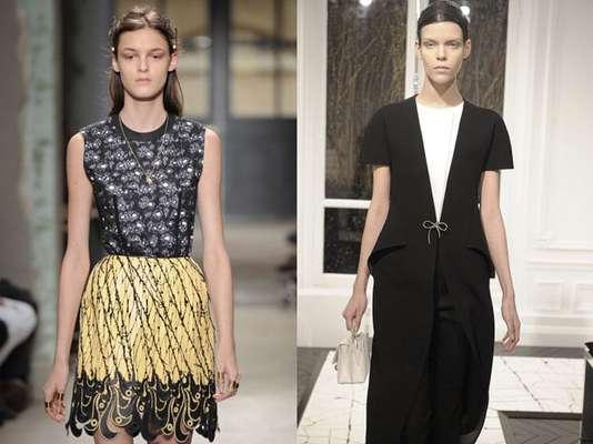 Balenciaga antes y después. A la izquierda, un diseño de la ultima colección de Ghesquiére. A la derecha de la colección otoño-invierno 2013-14 de Alexander Wang para la marca.