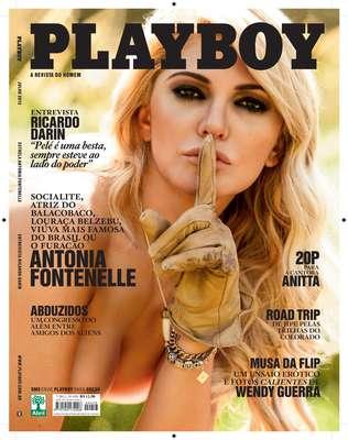Segunda versão da capa com Antonia Fontenelle para a 'Playboy' de julho