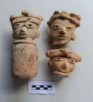 Fósseis antigos, chifres de veado, restos de tartaruga e peixes, além de sepulturas pré-hispânicas e até uma pirâmide foram encontrados por arqueólogos no México
