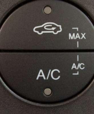 Botão de recirculação de ar deve ser acionado quando o motorista está em estradas com poluição ou poeira