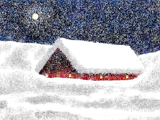 Hal Lasko cria suas obras pintando pixel a pixel