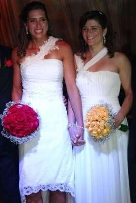 Lili e Larissa se casaram em Fortaleza, no Ceará, neste último fim de semana