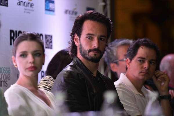Diretores, produtores e elenco do longa-metragem 'Rio, Eu Te Amo' participaram de coletiva de imprensa realizada no Theatro Municipal, no Rio de Janeiro, nesta segunda-feira (5)