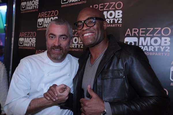 O chef Alex Atala e o lutador Anderson Silva marcaram presença no evento