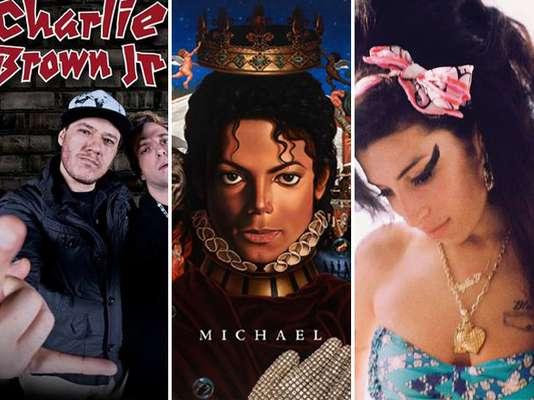 É comum o lançamento de álbuns póstumos de bandas e cantores, seja pela publicidade que a morte do músico atrai, seja pela vontade de saciar aos fãs sedentos. O mais recente grupo que se juntou a essa lista é o Charlie Brown Jr., que em setembro deste ano leva ao público um disco com faixas inéditas e sucessos da banda. Além do Charlie Brown Jr., outros artistas tiveram seus trabalhos lançados após a morte e alguns deles, aliás, obtiveram muito sucesso, alcançando a lista dos mais vendidos. Entre eles estão Michael Jackson e Amy. Navegue pela galeria e confira a lista de discos póstumos com canções inéditas que fizeram sucesso nas últimas décadas