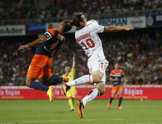 O Paris Saint-Germain estreou no Campeonato Francês com um empate nesta sexta-feira; em duelo fora de casa, o time de Ibrahimovic ficou no 1 a 1 com o Montpellier