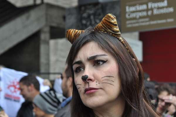 Em São Paulo, manifestantes reuniram-se no vão do Museu de Arte de São Paulo (Masp)