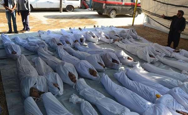 La oposición siria denunció este lunes más de 1.300 muertos cerca de Damasco tras un ataque con armas químicas por parte del ejército sirio, leal al presidente Bashar al-Assad.