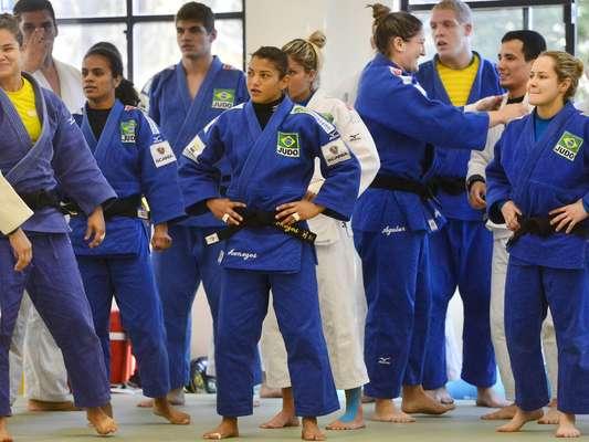 A Seleção Brasileira de judô realizou nesta quarta-feira mais um treinamento aberto para a disputa do Campeonato Mundial, na próxima semana no Rio de Janeiro