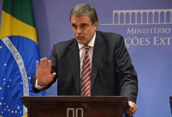 O ministro da Justiça, José Eduardo Cardozo, durante coletiva sobre as denúncias de espionagem de agências americanas de dados à presidente Dilma Rousseff e assessores