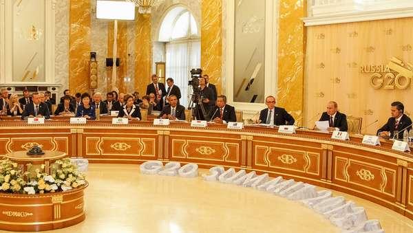5 de setembro - Presidente Dilma Rousseff durante reunião de trabalho do G-20