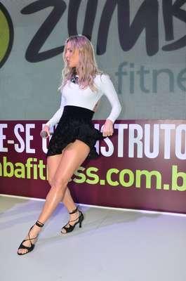 Claudia Leitte foi o grande destaque da 14ª edição da feira IHRSA Fitness Brasil, neste sábado (7)