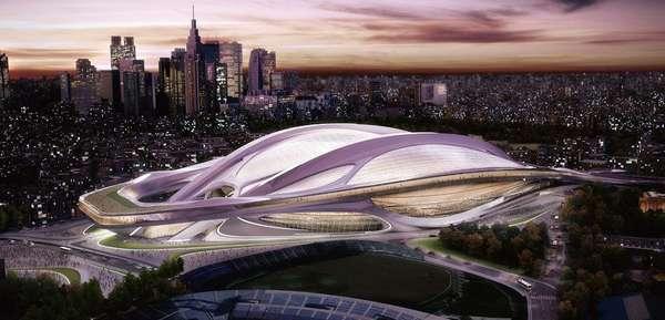 Eleita neste sábado sede dos Jogos Olímpicos de 2020, Tóquio incluiu em seu portfólio uma reforma futurista para o Estádio Olímpico Nacional, palco que recebeu a Olimpíada em 1964; confira