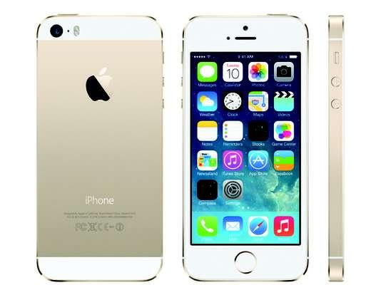 iPhone 5SFeito de alumínio com bordas chanfradas. Possui chip A7, pela primeira vez com uma arquitetura de 64 bits em um smartphone. Segundo a Apple, a perfomance do novo chip é 40 vezes maior que a do iPhone 5. Na parte gráfica, o desempenho aumenta para 56 vezes