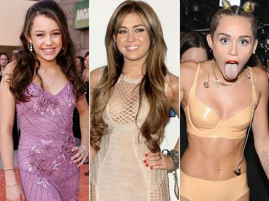 Desde que ficou conhecida ao atuar na série 'Hannah Montana' (de 2006 a 2011), Miley Cyrus, 20 anos, mudou muito seu estilo. Com o passar dos anos, a cantora foi assumindo uma posturamais ousada, assim como suas apresentações em público. Navegue pela galeria e veja a evolução de estilo de Miley