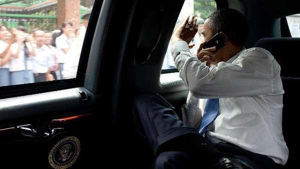 Barack Obama tiene un Blackberry pero su familia es fiel a iPhone.