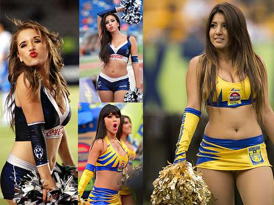The Tigres and Rayados cheerleaders are some of the most beautiful in the Mexican league.
