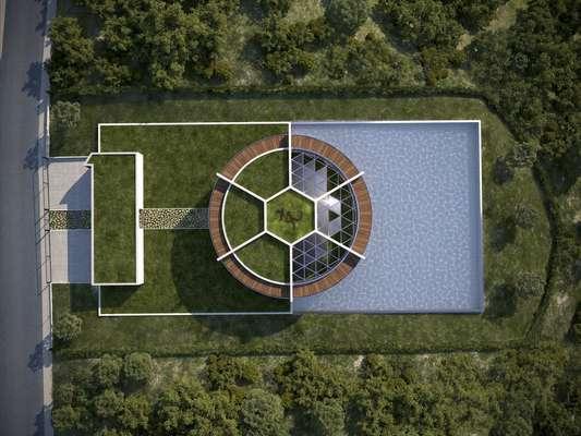 arquiteto cria mans o para messi em forma de campo de futebol. Black Bedroom Furniture Sets. Home Design Ideas