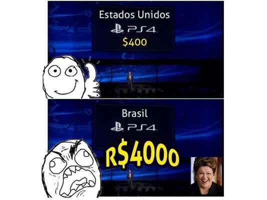 Após a Sony Computer Entertainment America anunciar nesta quinta-feira (17) que o PlayStation 4 irá custar R$ 3.999 no Brasil, internautas utilizaram as redes sociais para criticar o alto custo do aparelho; veja memes criados pelos fãs do console