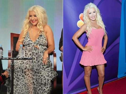 Christina Aguilera. La espectacular cantante ha perdido en tan sólo tres meses 22 kilos, según reveló a la revista Life & Style, cambio que logró modificando su dieta, evitando los restaurantes y sometiéndose a una rigurosa rutina física