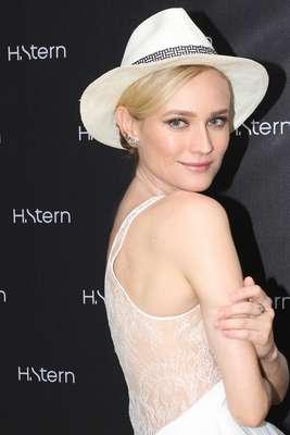 Na noite de quinta-feira (31), Diane Kruger marcou presença no hotel Fasano, no Rio de Janeiro, para lançar a nova coleção da H Stern