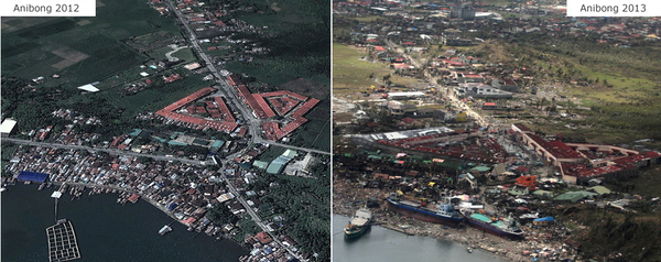 Imágenes satelitales y aéreas de Filipinas muestran la magnitud de la devastación en las zonas bajas del país tras el paso del potente tifón Haiyán, como la ciudad de Tacloban, en la isla central de Leyte, y la de Guiuan, en la región oriental de Samar.