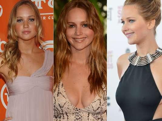 Quando começou a frequentar as premières, Jennifer Lawrence era apenas uma menina tímida; aos 23 naos e dona de um Oscar, a atriz se tornou um mulherão e é uma das mais disputadas pelos fotógrafos nos tapetes vermelhos. Navegue pela galeria e veja sua transformação