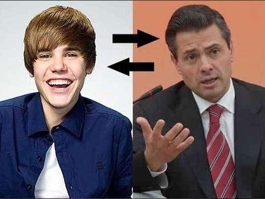 El rumor que se desató sobre un falso encuentro entre Justin Bieber y el presidente de México, Enrique Peña Nieto, despertó la creatividad de usuarios en las redes sociales como este diseño que presume, ambos hablaron de cultura y música.