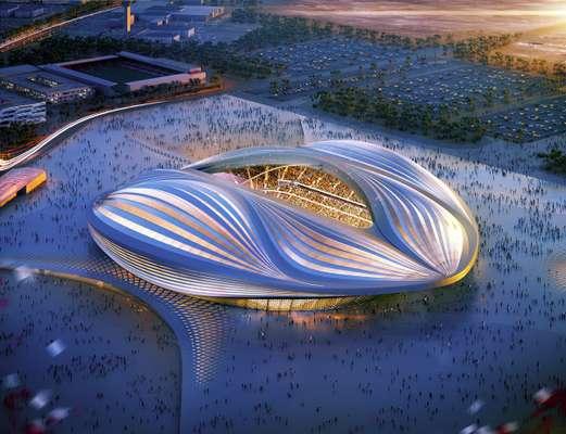 Al-Wakrah Stadium, uma das sedes da Copa do Mundo de 2022 no Catar, virou piada na internet após o design da arena ser comparado a uma vagina. O projeto é assinado pelos escritórios Aecom e Zaha Hadid