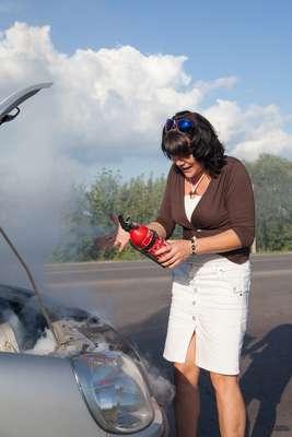 O uso do extintor em caso de grande emergência pode parecer complicado